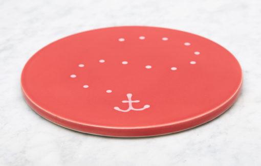 Lola Arts - Trivet - Anchor - Coral