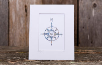 Love Rocks Me - 5x7 Print - Compass