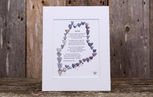 Love Rocks Me - 8x10 Print - Maine Poem