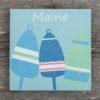 Salt Air Designs - 6x6 Buoy with Maine - Salt Air