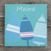 Salt Air Designs - 6x6 Buoy with Maine - Sea Green