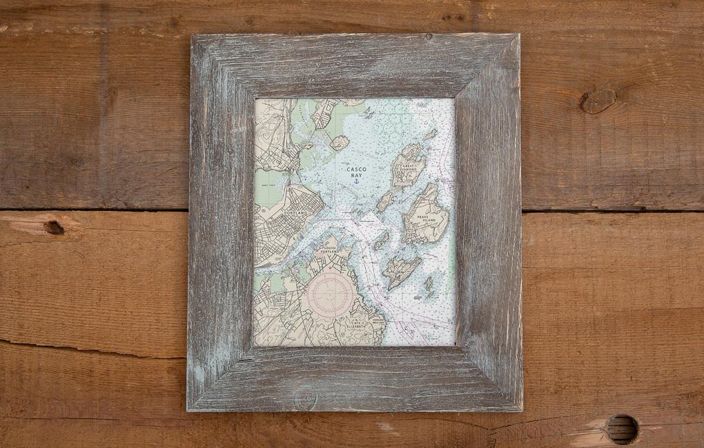 Framed Nautical Chart - Casco Bay