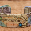 Whimsy - Chart Map Cuff - 3/4 Inch - Rockport