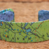 Whimsy - Chart Map Cuff - 3/4 Inch - Vinalhaven Island