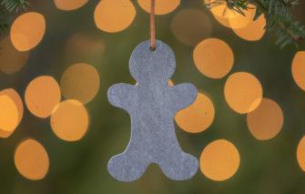 A & E Stoneworks - Slate Ornament - Gingerbread Man