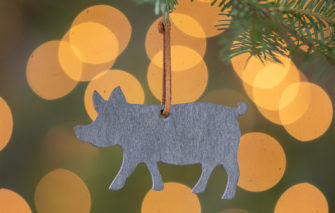 A & E Stoneworks - Slate Ornament - Pig