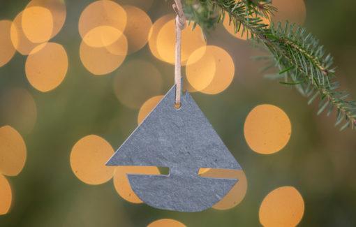 A & E Stoneworks - Slate Ornament - Sail Boat