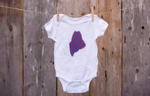 NikLinDesigns - Maine Onesie - Red and Blue Lobster - 6-9 Months