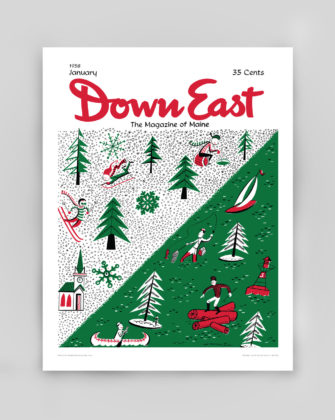 January 1958 - Down East Magazine Cover Poster