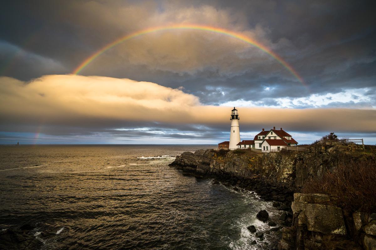 Rainbow Over Portland Head Light