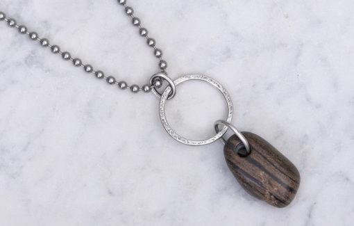 Circle Stone Designs - Necklace - Three Ring Beach Stone