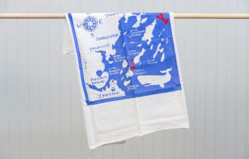Trosko Design - Tea Towel - Casco Bay