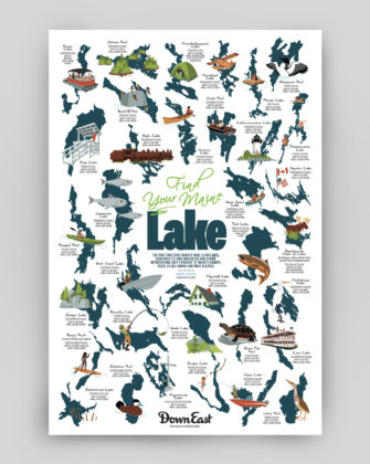 Maine Lakes Poster