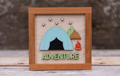163 Design Company - Wooden Sign - Adventure