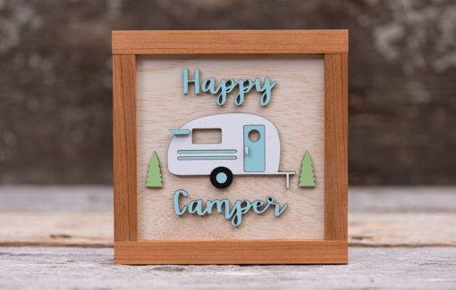 163 Design Company - Wooden Sign - Happy Camper