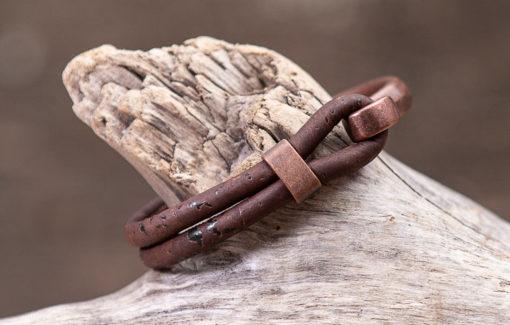 Gem Lounge - Bracelet - Brown Cork with Copper Hook