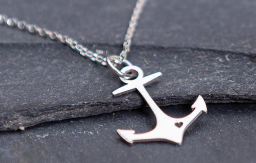 Gem Lounge - Necklace - Anchor Heart