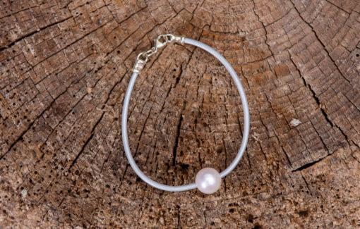 LESL Ware - Bracelet - Single Pearl - Fog