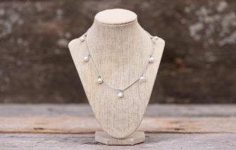 LESL Ware - Necklace - Multi Dangle Pearl - Fog