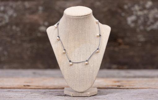 LESL Ware - Necklace - Multi Dangle Pearl - Grey