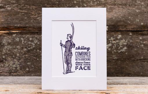 Stacey Kane Design - Print - Skiing
