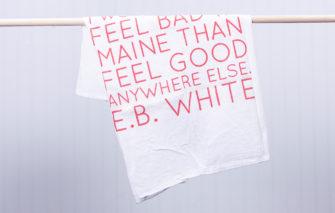 Trosko Design - Tea Towel - Maine Quote