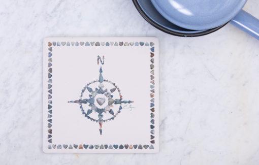 Love Rocks Me - Trivet - Compass
