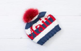 Bespolk - Maine Pom Baby Hat - Navy and White