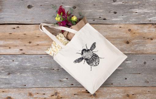 North Circle Studio - Market Tote - Bee
