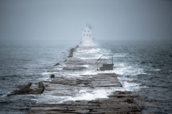 King Tide at Rockland Breakwater Lighthouse