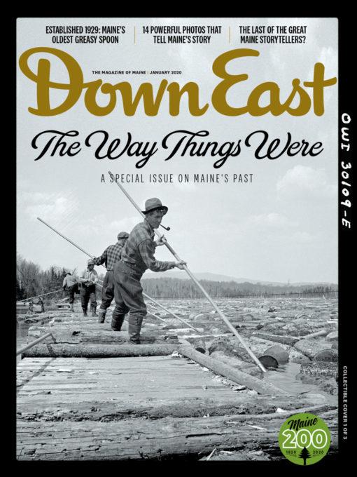 Down East Magazine - January 2020 Cover - Log Jam