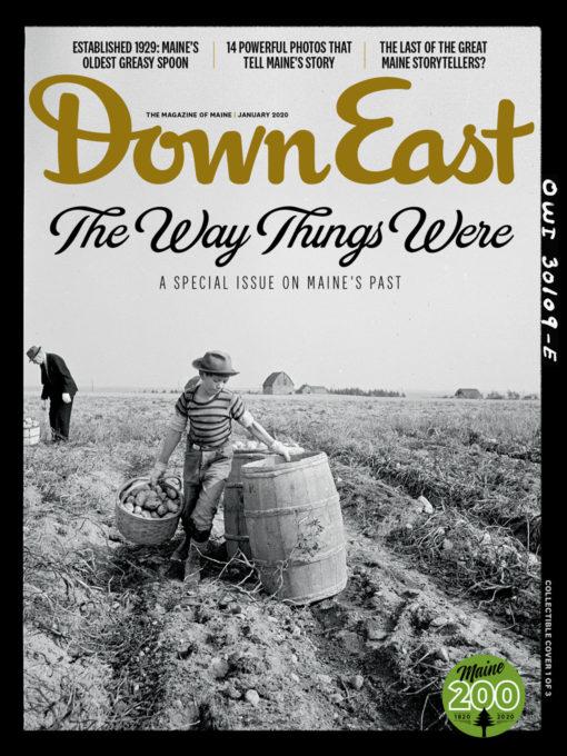 Down East Magazine - January 2020 Cover - Potato Farm