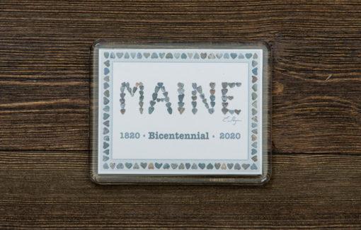 Love Rocks Me - Magnet - Maine Bicentennial