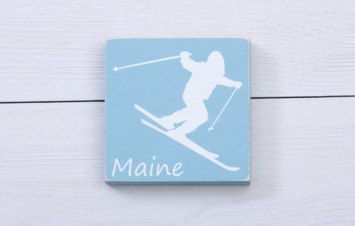 Salt Air Designs - 4x4 Decor - Skier- Surf