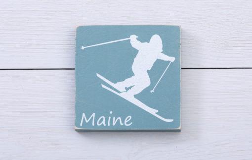 Salt Air Designs - 4x4 Decor - Skier- Tidal Pool