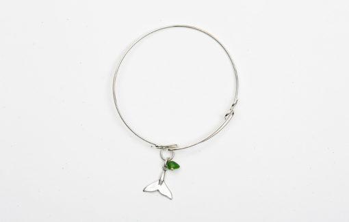 Denise Dion Jewelry - Bracelet - Whale Tail - Green