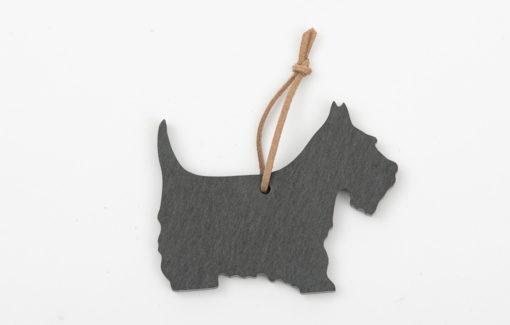 A&E Stoneworks - Slate Ornament - Scottie Dog
