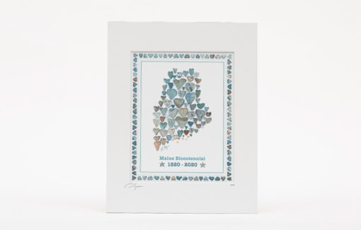 Love Rocks Me - Print - Maine Bicentennial 8x10