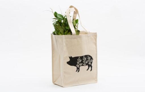 North Circle Studio - Grocery Tote - Pig