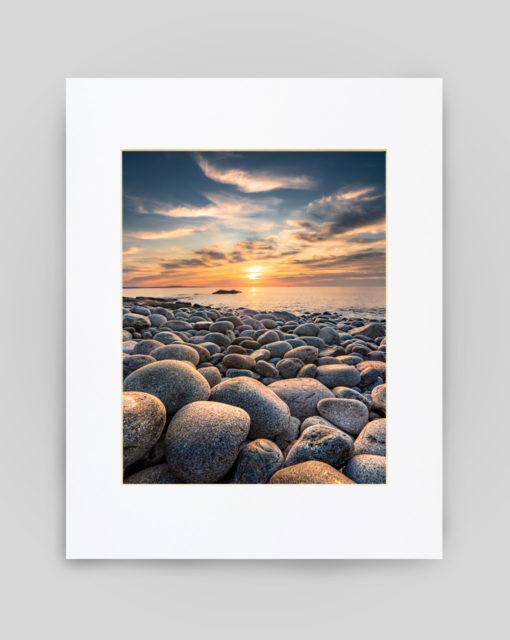 Boulder Beach, Acadia Print by Ben Williamson
