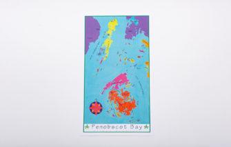 Festive Fish - Chart Poster - Penobscot Bay