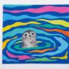 Festive Fish - Microfiber Cloth - Harbor Seal