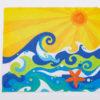 Festive Fish - Microfiber Cloth - Waves
