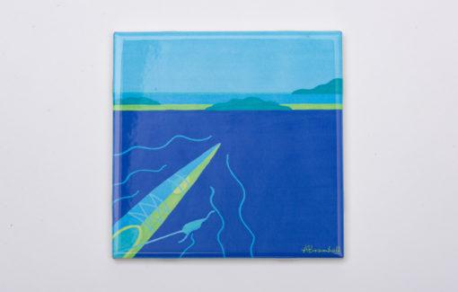 Festive Fish - Trivet - Blue Kayak