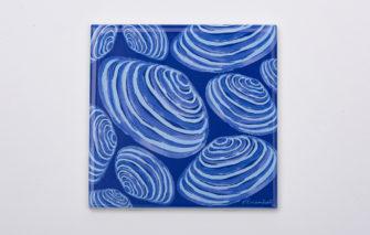 Festive Fish - Trivet - Clams on Blue