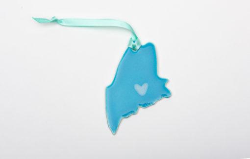 Lola Arts - Ornament - Maine - Sky Blue