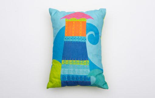 Festive Fish -Artful Pillow - Island Light