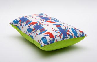 Festive Fish -Artful Pillow - Midnight Lobsters