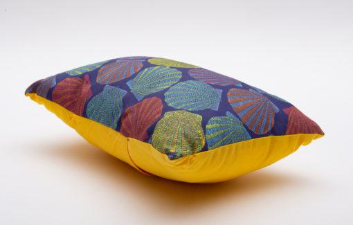 Festive Fish -Artful Pillow - Scallops on Blue