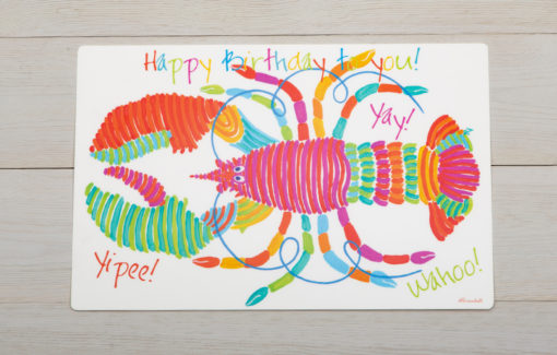 Festive Fish - Placemat - Happy Birthday Lobster